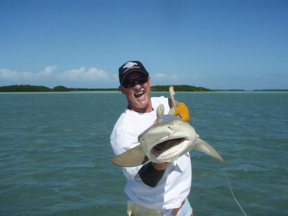 flats fishing for sharks in the Marquesas Keys