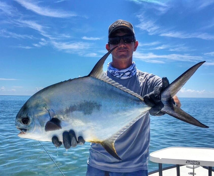 Key West fly fishing guide with a nice permit