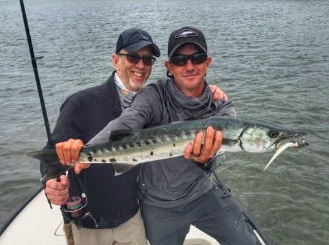 flats fishing for barracuda in January